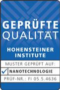 The Hohenstein quality label provides the security that a textile actually uses nanotechnology.