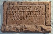 Stein aus der früheren »Sängerey« von St. Stephan. Foto: Brunhilde Escherich, Akademie der Wissenschaften und der Literatur Mainz
