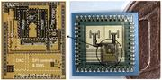 122-GHz Radar chip (left) and SiP (right)