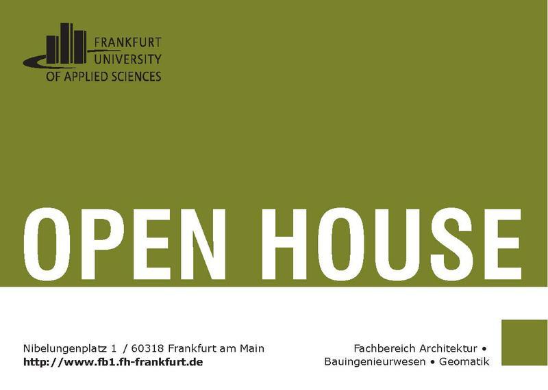 architektur zum anfassen open house am fachbereich architektur bauingenieurwesen geomatik. Black Bedroom Furniture Sets. Home Design Ideas