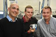 The research team of Jena University (from left to right): Prof. Dr. Ulrich S. Schubert, Tobias Janoschka, Dr. Martin Hager.