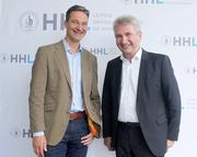 During the 4th HHL International Investors Day: Prof. Dr. Andreas Pinkwart, Dean of HHL (right), together with Dr. Alex von Frankenberg, CEO High-Tech Gründerfonds (HTGF). Photo credits: HHL.