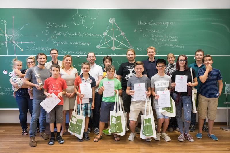"Graduation ceremony of the Talentesommer-Event ""Top Models in Science"""