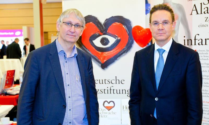 Die Professoren Tobias Welte und Johann Bauersachs (von links).