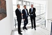 The Executive Board Members of the LZH as of April 2018 Klaus Ulbrich, Dr. Dietmar Kracht and Dr.-Ing. Stefan Kaierle (from left to right).