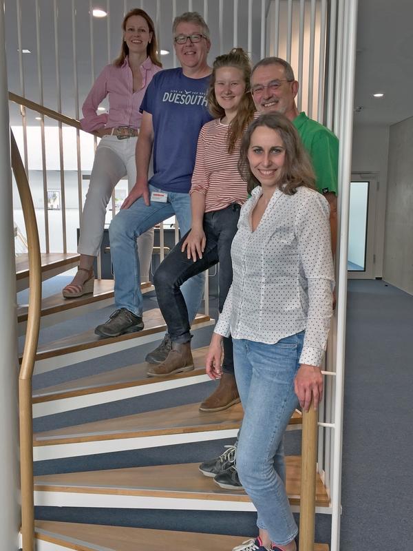 Forscherteam Dipl.-Psych. Ewelina K. Wardzinski, Dr. Uwe H. Melchert, Alina Kistenmacher, M.Sc., Kai Duysen, Prof. Dr. Kerstin Oltmanns (von vorn nach hinten)