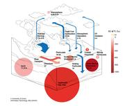 Global black carbon cycle in large reservoirs.