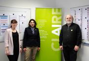 Janina Hoppstädter, Manager Industry Relations CLAIRE office Germany; Dr. Silke Balzert-Walter, Head of CLAIRE office Germany; Prof. Dr. Philipp Slusallek, CLAIRE Co-Initiator