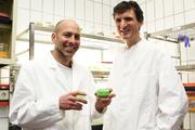 CRC 1182 researchers Dr Tim Lachnit (left) und Dr Peter Deines investigated the connections between nutrient availability and the balance of the microbiome.