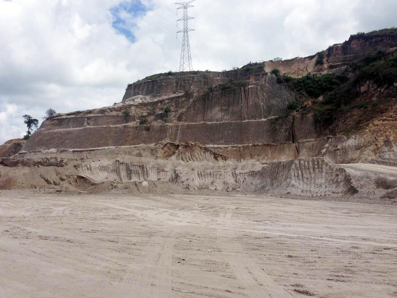 Picture of a pozzolan quarry in Guatemala. There, large quantities of volcanic ash are added to cements in order to reduce CO2 emissions.