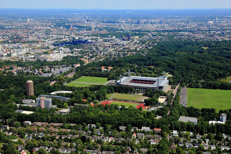 German Sport University located in the green belt of Cologne.