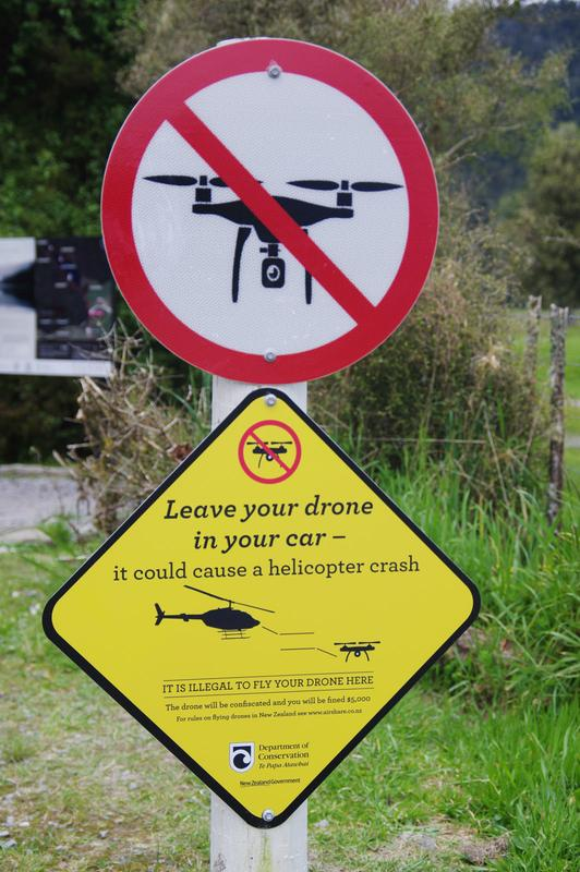 No drones allowed in the vicinity of helicopters.