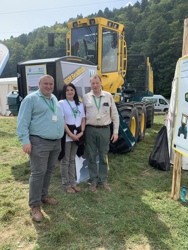 Coordinator HSM and partner UTBV at the Forest Romania Fair