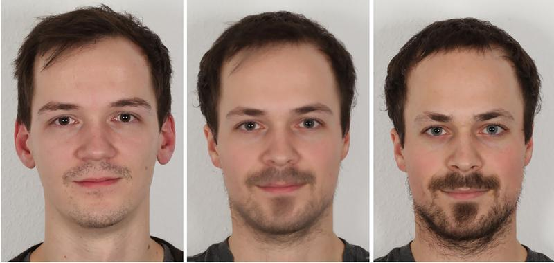 Illustration eines Face-Morphing-Angriffs.