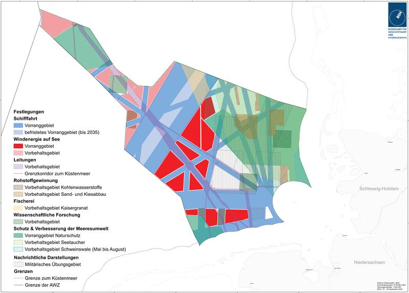 Entwurf Raumordnungsplan für die deutsche AWZ (Kartenteil Nordsee)