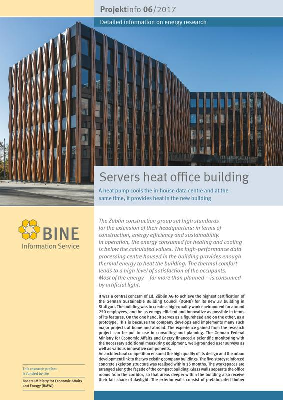 "The BINE Projektinfo ""Servers heat office buildings"""
