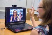 Franziska Müller, Max Planck Institute for Informatics, has developed a software system that requires only the built-in camera of a laptop to produce a real-time 3D model of a moving hand.