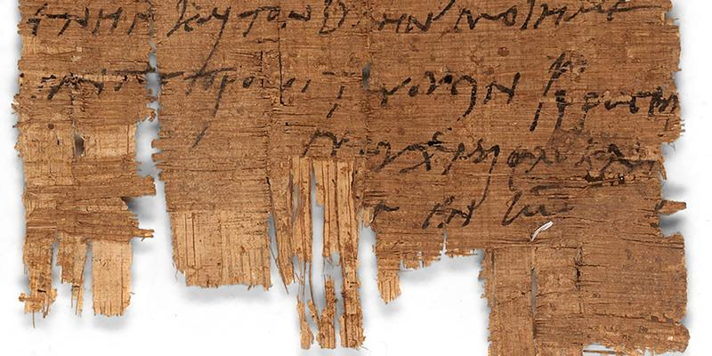 "Detail: The last line of the papyrus P.Bas. 2.43 contains the main hint: the author uses the abbreviated form of the Christian phrase ""I pray that you fare well 'in the Lord'."""