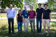 Some of the authors from the MPI of Biochemistry who were involved in the study (left to right): Ralf Jungmann, Shivani Tiwary, F.-Ulrich Hartl, Frédéric Frottin, Mark Hipp, Florian Schüder