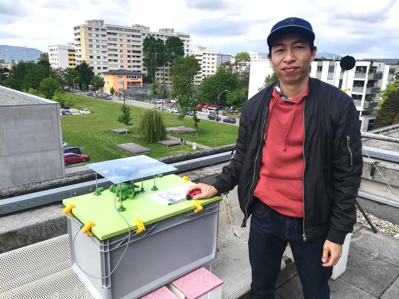 Nam Cao is responsible for the hardware of the pollen sensor prototype. The PhD student is working on this topic as part of his DIssertation at the Institute of Technical Informatics at TU Graz.